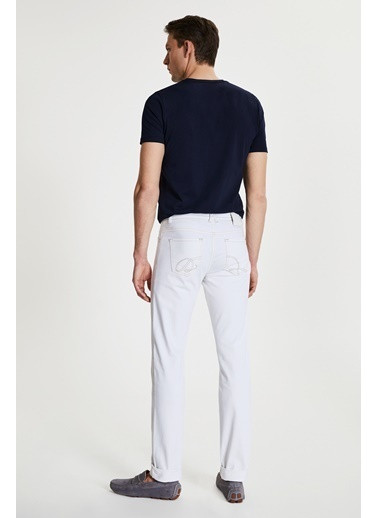 Damat Slim Fit Denim Pantolon Beyaz